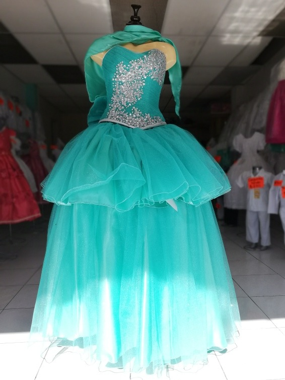 Vestidos color azul menta