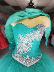 c74358619 Vestido De Xv Años Color Verde Menta Azul Turquesa Vino