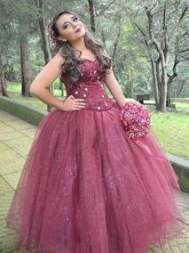 Vestido De Xv Años Color Vino