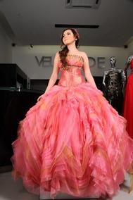 Vestidos Xv Años Color Coral Vestidos De 15 Largo En