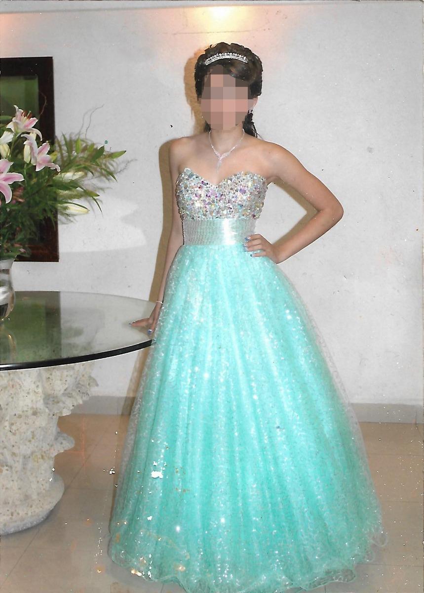 Vestido De Xv A 241 Os Dise 241 Ador Carlo Giovanni Azul Aqua