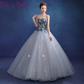 80fdf22167 Hermoso Vestido De Xv Años Con Flores Bordadas - Ropa
