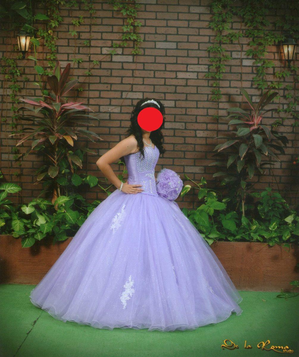 Vestidos de xv modernos lila