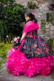 Vestido De Xv Años Mexicano Bordado A Mano