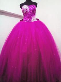 Vestido De Xv Años Rosa Fiusha