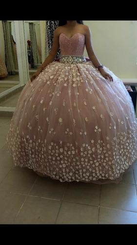 vestido de xv años,con cristales y pedreria