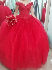 Vestido De 15 A Os Rojo Quemado En Mercado Libre México