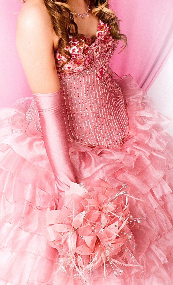 Vestido de color rosa - 3 10