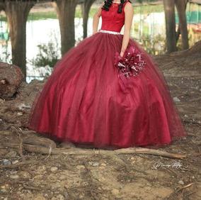 Vestido Xv Anos Color Vino Vestidos De 15 Largo De Mujer