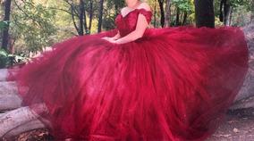 Vestido De Xv Tinto