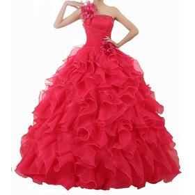 Vestido Debutante 15 Anos Pink Fúcsia Longo- Pronta Entrega