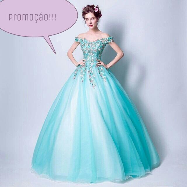 Vestido Debutante Azul Tiffany Frete Gratis - R  1.100,00 em Mercado ... a5f7330159