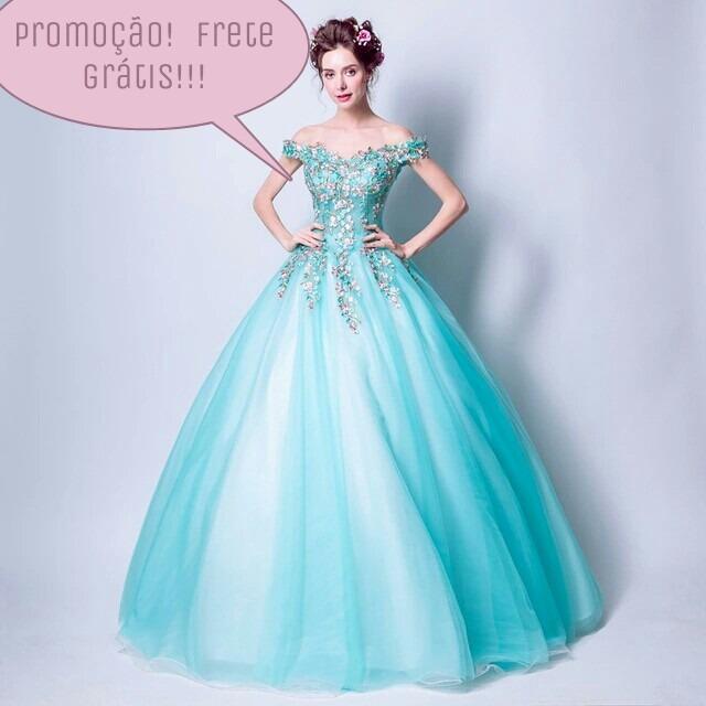 Vestido azul turqueza