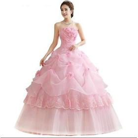 Vestido Debutante Festa 15 Anos Branco Vermelho Rosa Saiote