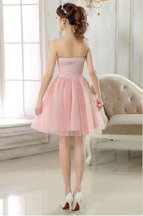 vestido debutante festa 15 anos curto bordado com tule 086