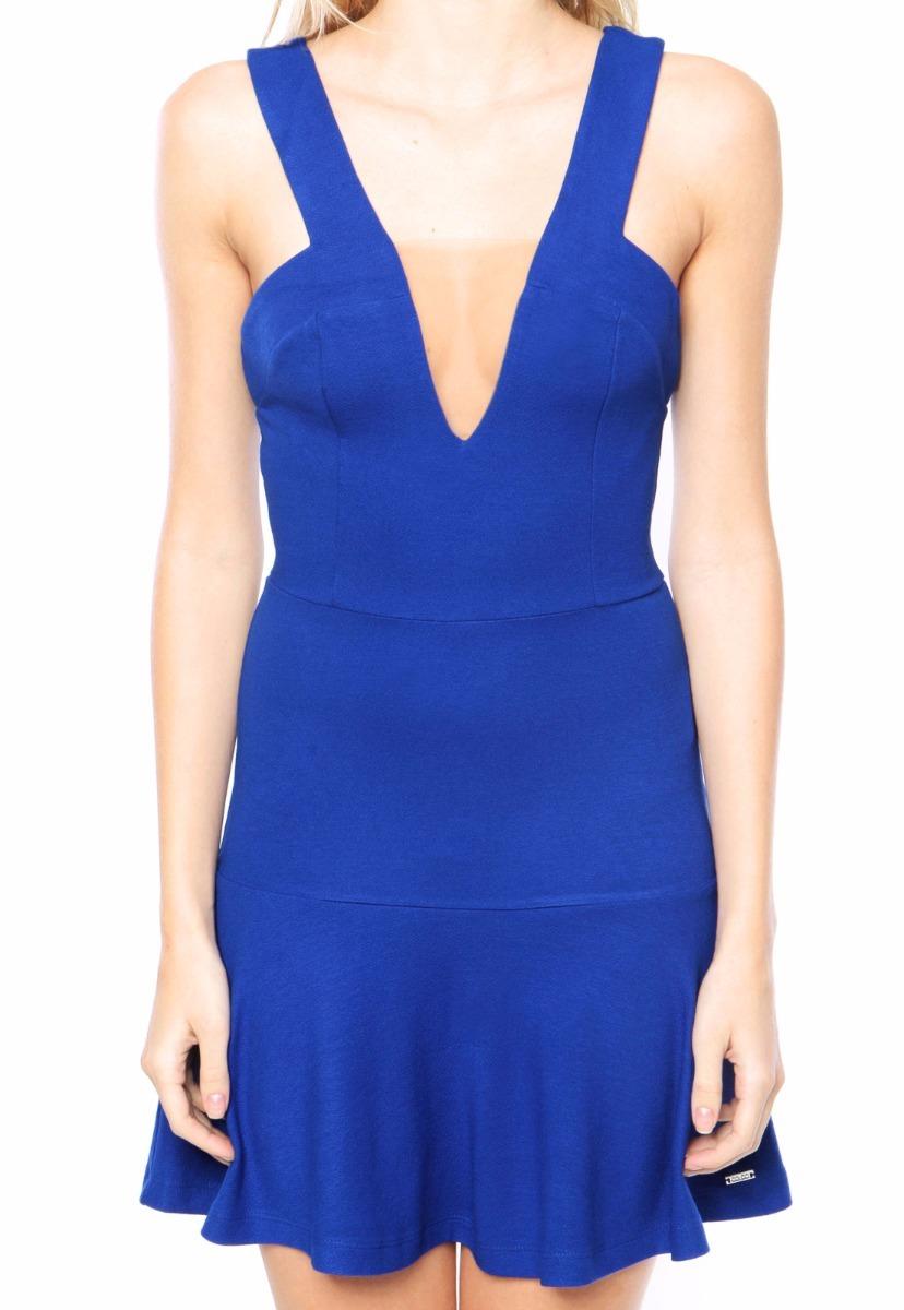 abbf6d8c0 vestido decote azul feminino colcci. Carregando zoom.
