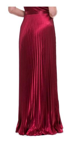 vestido decote coração saia plissada lindooo varias cores