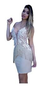 5c24c49b2568 Vestido De Franja Panicat Na Moda Vestidos - Calçados, Roupas e Bolsas com  o Melhores Preços no Mercado Livre Brasil