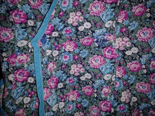 vestido delantal floreado entallado liviano fresco talla 38
