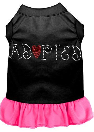 vestido diamante de imitación adoptado negro con rosa brill