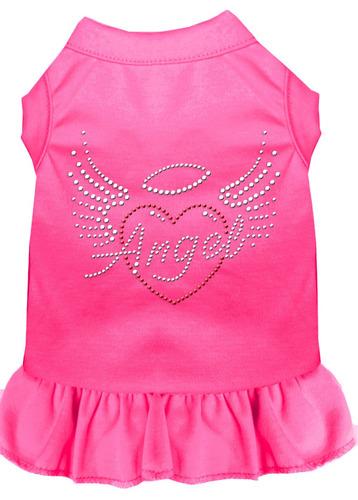 vestido diamante de imitación ángel corazón rosa brillant
