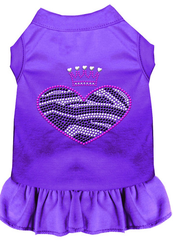 vestido diamante de imitación cebra corazón med púrpura (12)