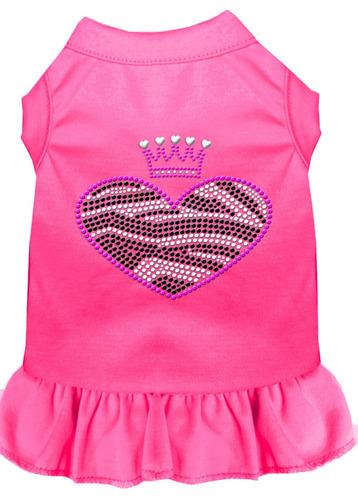 vestido diamante de imitación cebra corazón med rosa brill