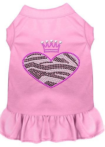 vestido diamante de imitación cebra corazón rosa luz 4x (22)