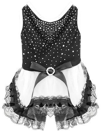 vestido diamante de imitación prima pequeño negro
