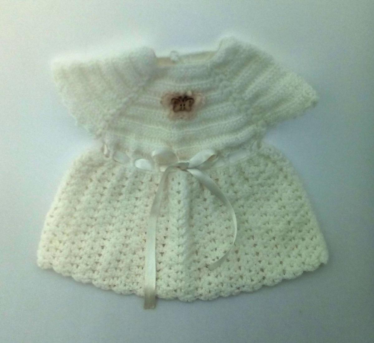 e4cdb2f80 vestido diana lana tejido a mano para bebé recien nacida. Cargando zoom.