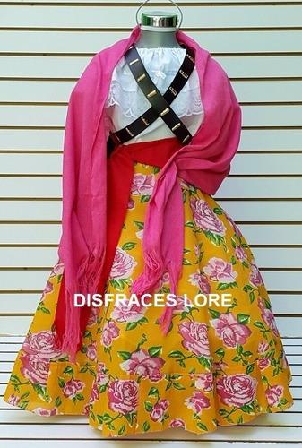 vestido disfraz adelita falda blusa rebozo adulto mujer