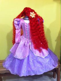 Vestido Disfraz De Princesa Ariel La Sirenita Paquete