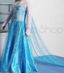 Vestido Disfraz Elsa Frozen