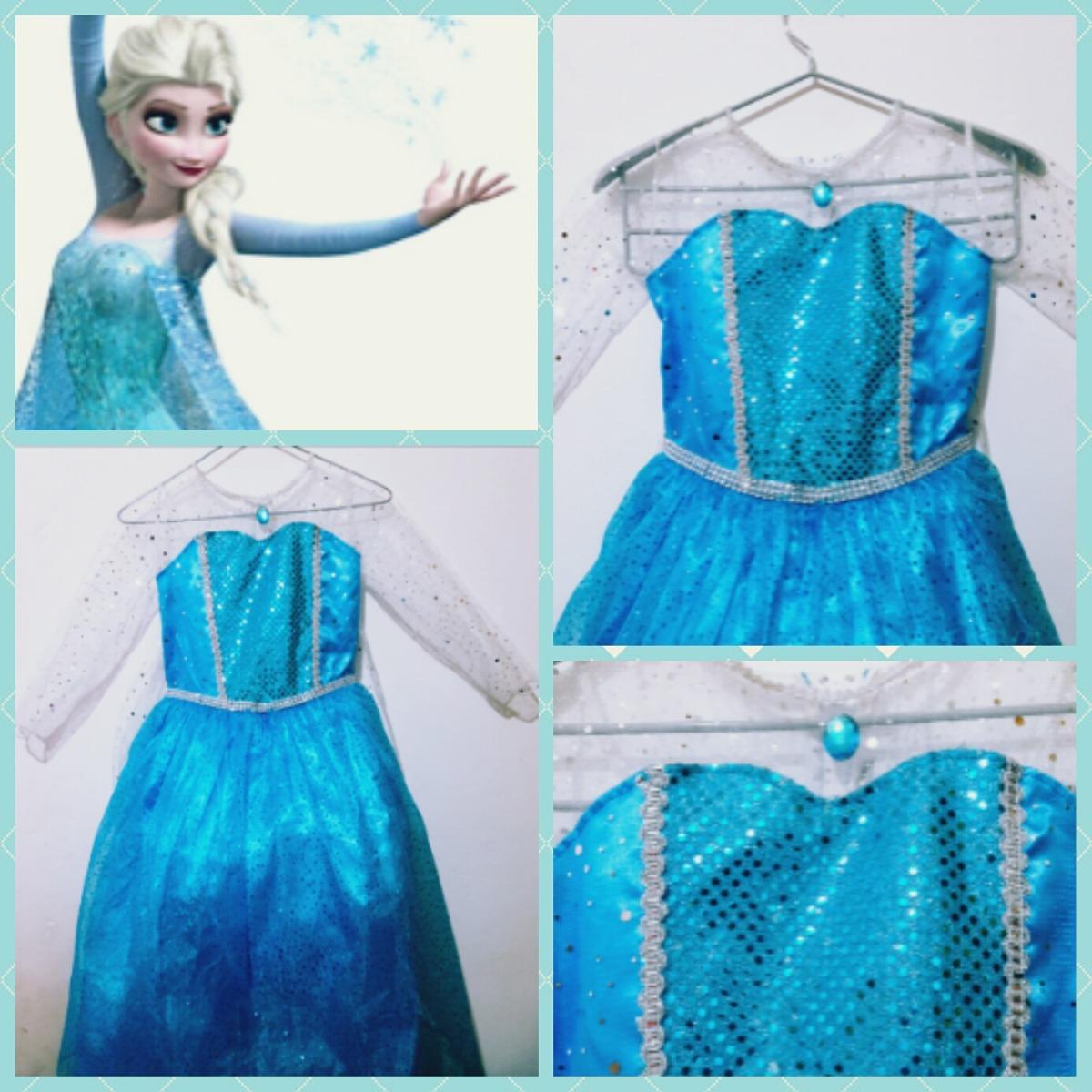 Vestido Disfraz Frozen Elsa De Niñas Para Halloween