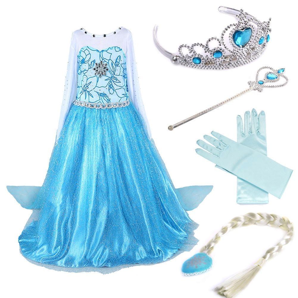 Vestido Disfraz Para Niña Frozen Elsa Princesa 3 Años