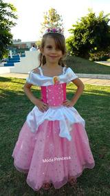 Vestido Disfraz Princesa Aurora Bella Durmiente De Disney