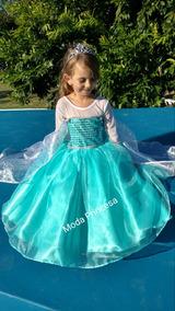 Vestido Disfraz Princesa Disney Elsa De Frozen