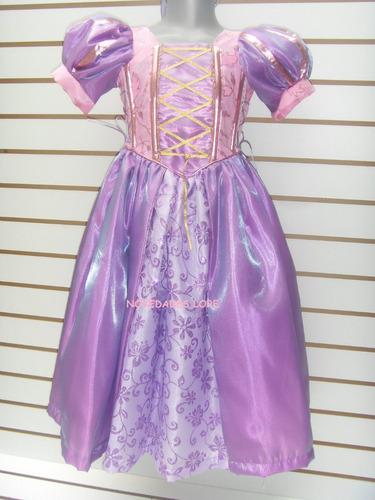 vestido disfraz princesa rapunzel enredados talla 10 años