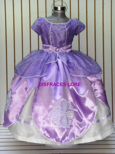 vestido disfraz princesa sofia corona envio regalo niñas