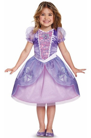 Vestido Disfraz Princesa Sofia Niña Original Disney Envio In