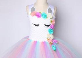 697db9f7b Vestido Disfraz Unicornio Estilo Tutu