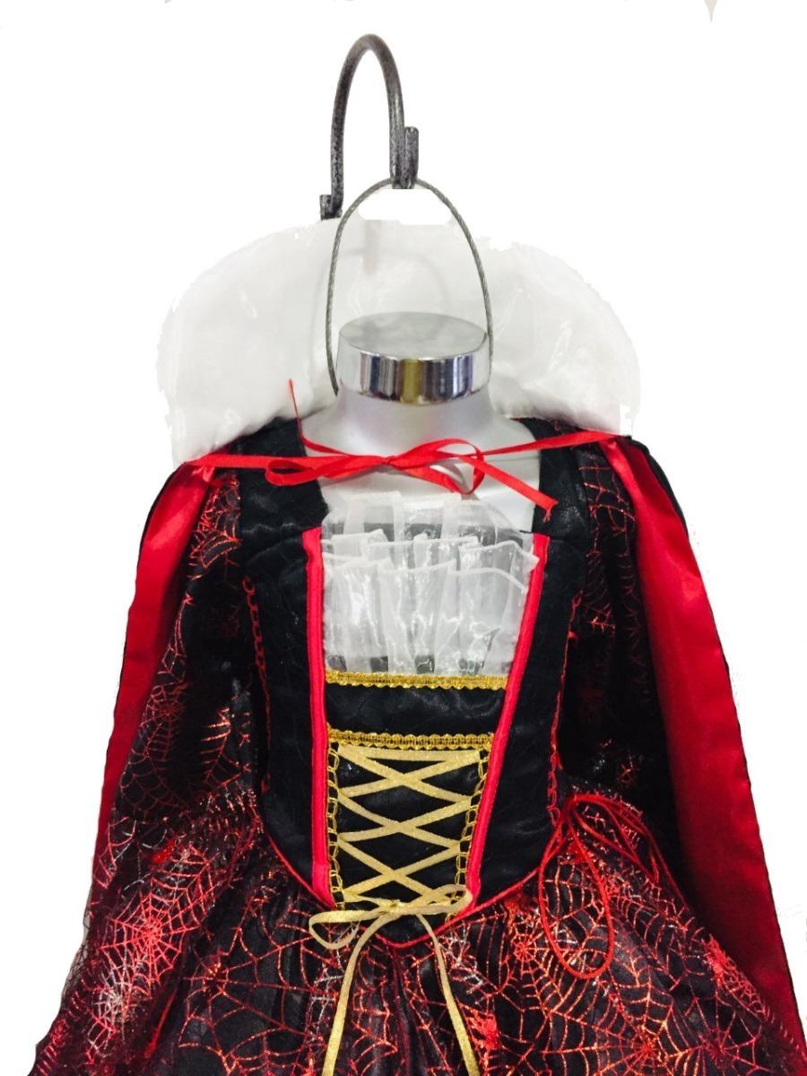Vestido Disfraz Vampira Halloween Niña Brujita Catrina - $ 750.00 en Mercado Libre