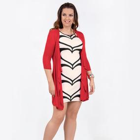1ec2d4edc Vestido Doble Prenda Dama Mujer Size Plus Rojo Ivory Formal