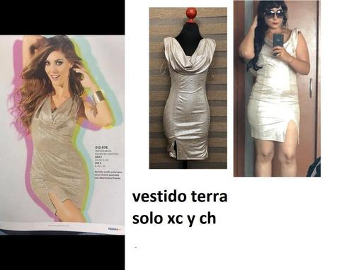 4829dc84 Vestido Dorado 091276 Mundo Terra ..outlet /saldos Mchn.. - $ 250.00 ...