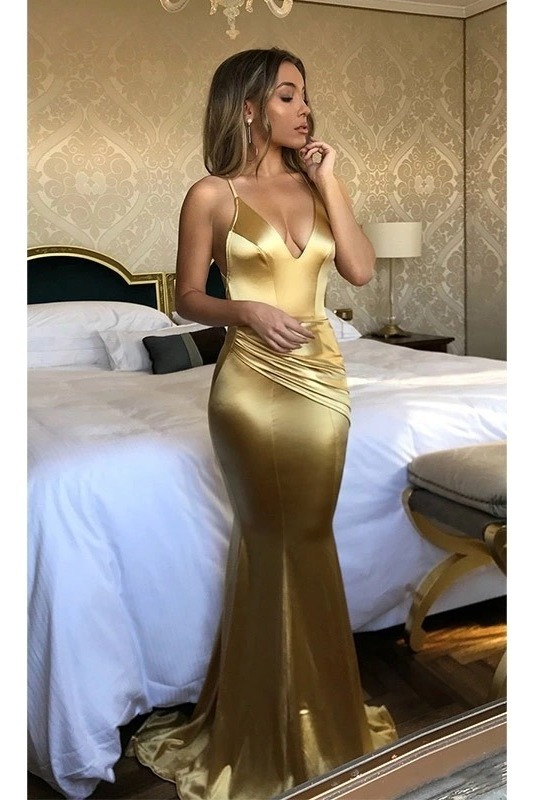 Vestido Dorado Sexy Descubierto Fiesta Casual Nalgona Esc