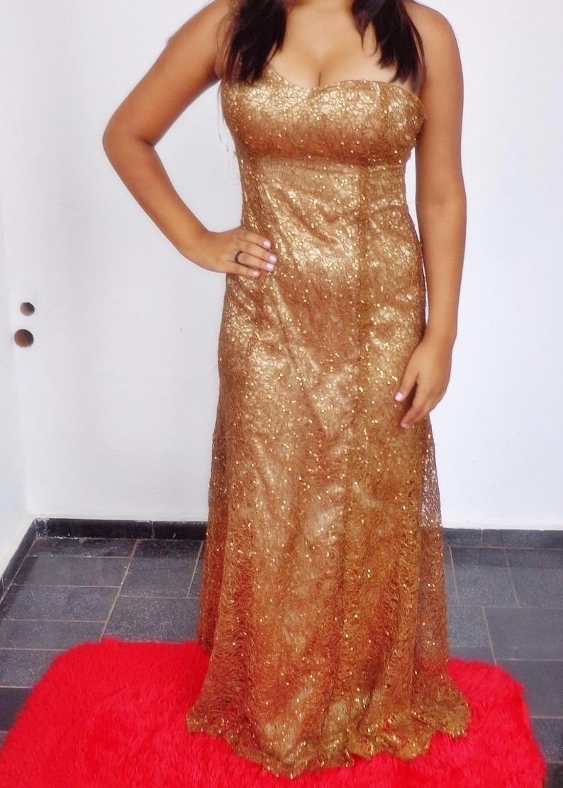 24d520b003 vestido dourado com brilho madrinha formatura. Carregando zoom.
