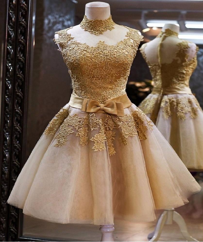 07b72060c3 vestido dourado ouro noiva curto casamento festa madrinha. Carregando zoom.