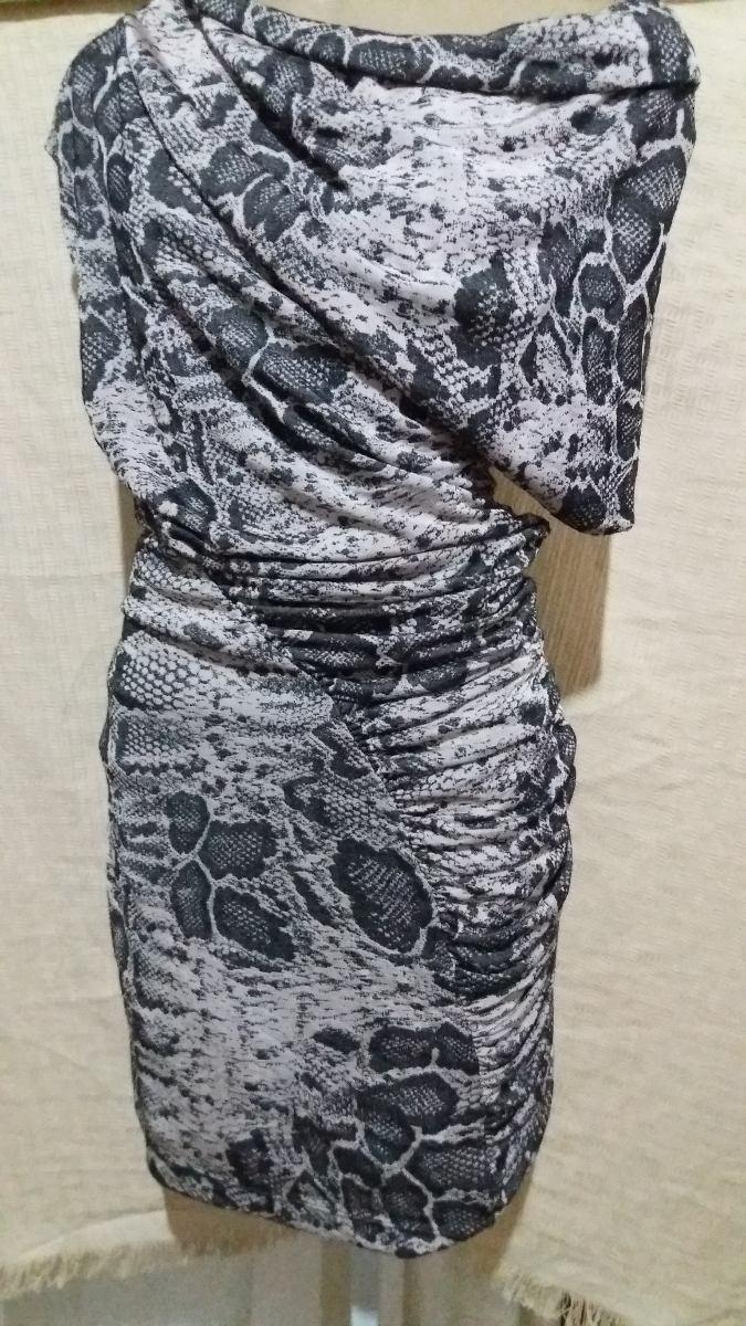 049738bd1c vestido drapeado feminino animal print oferta. Carregando zoom.
