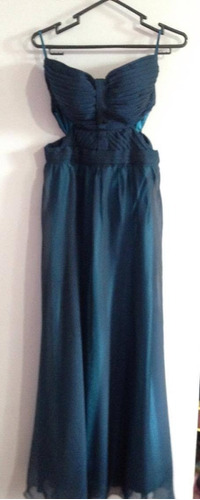 vestido drapeado largo