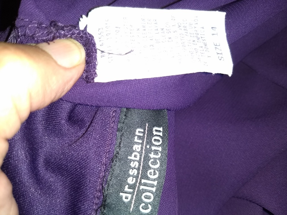 Vestido Dressbarn Talla Grande 14w, 36 Mexico Morado - $ 195.00 en ...